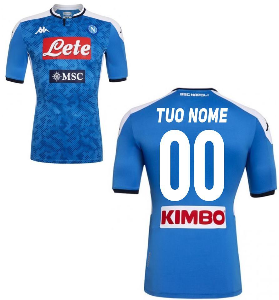 Maglia Gara Home Uomo SSC Napoli 2018/2019 Calcio Sport e tempo ...