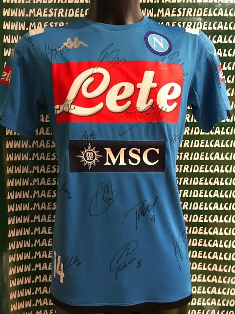 Calcio Trikot Gara Away Mertens 14 AUTOGRAFATA S.C Napoli 2019//2020