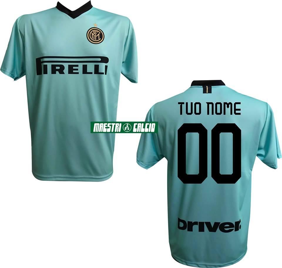 Inter 2019//2020 Personalizzato Personalizzabile MAESTRI DEL CALCIO Pantaloncini Gara Home Bambino F.C