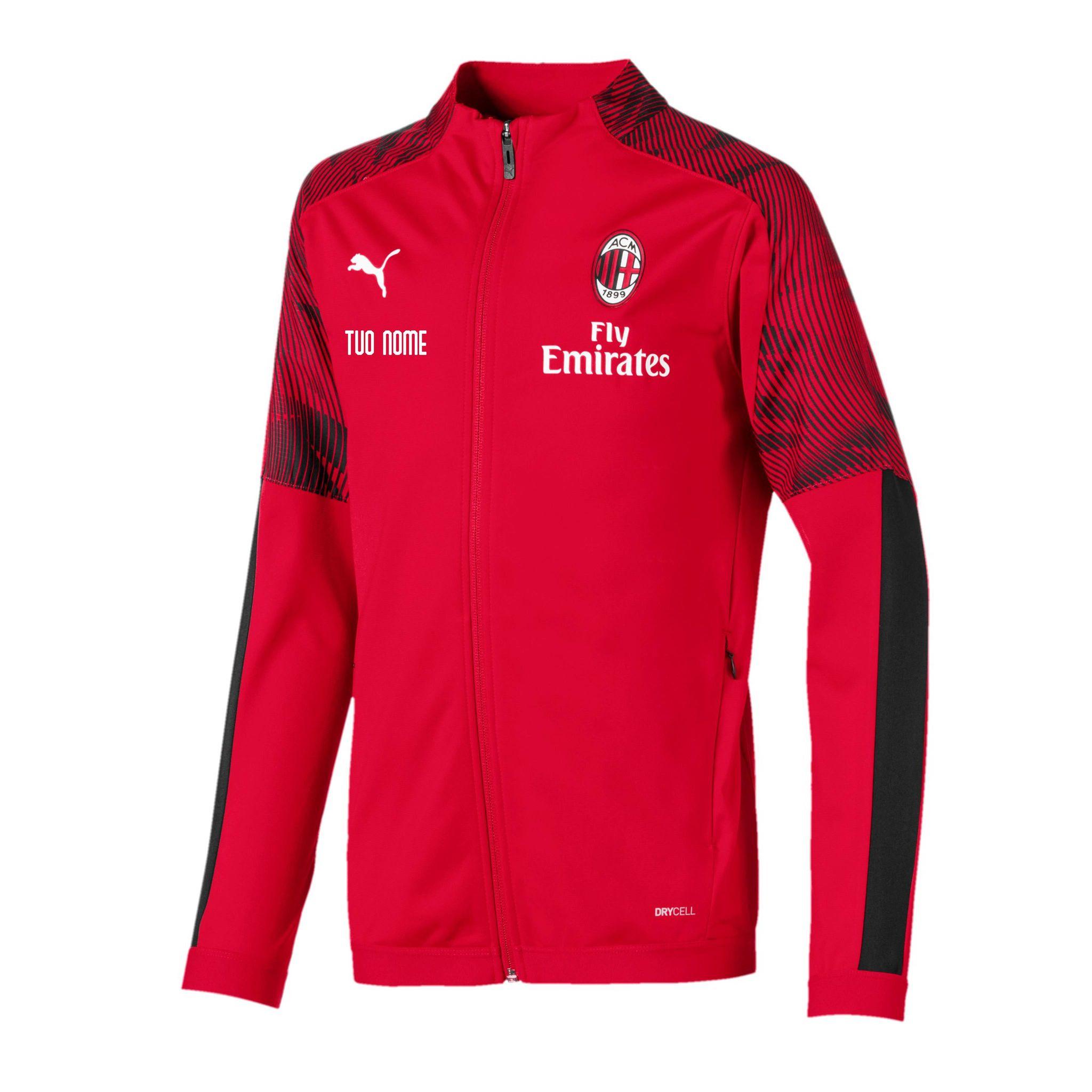 Felpa Rappresentanza Rossa Bambino Ufficiale Puma A.C. Milan 2020/2021