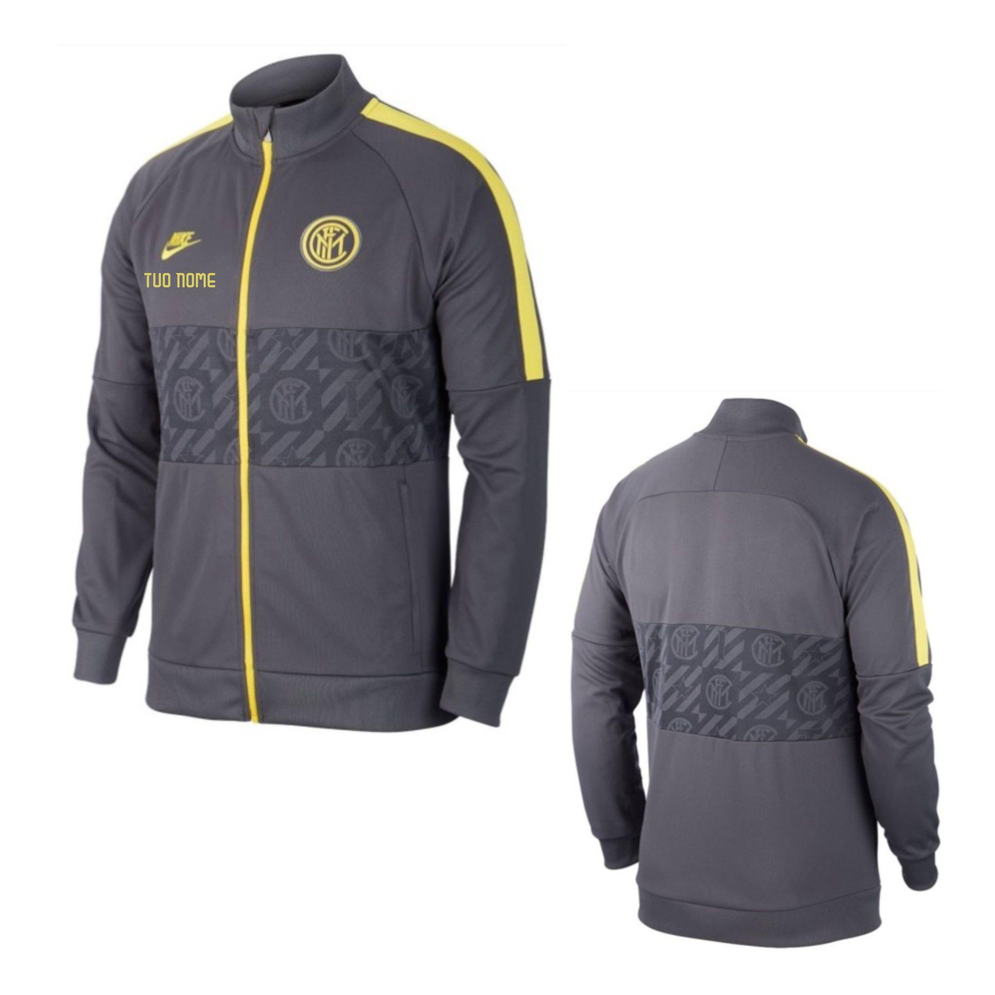 Felpa Rappresentanza Zip Europa Ufficiale Nike F.C. Inter