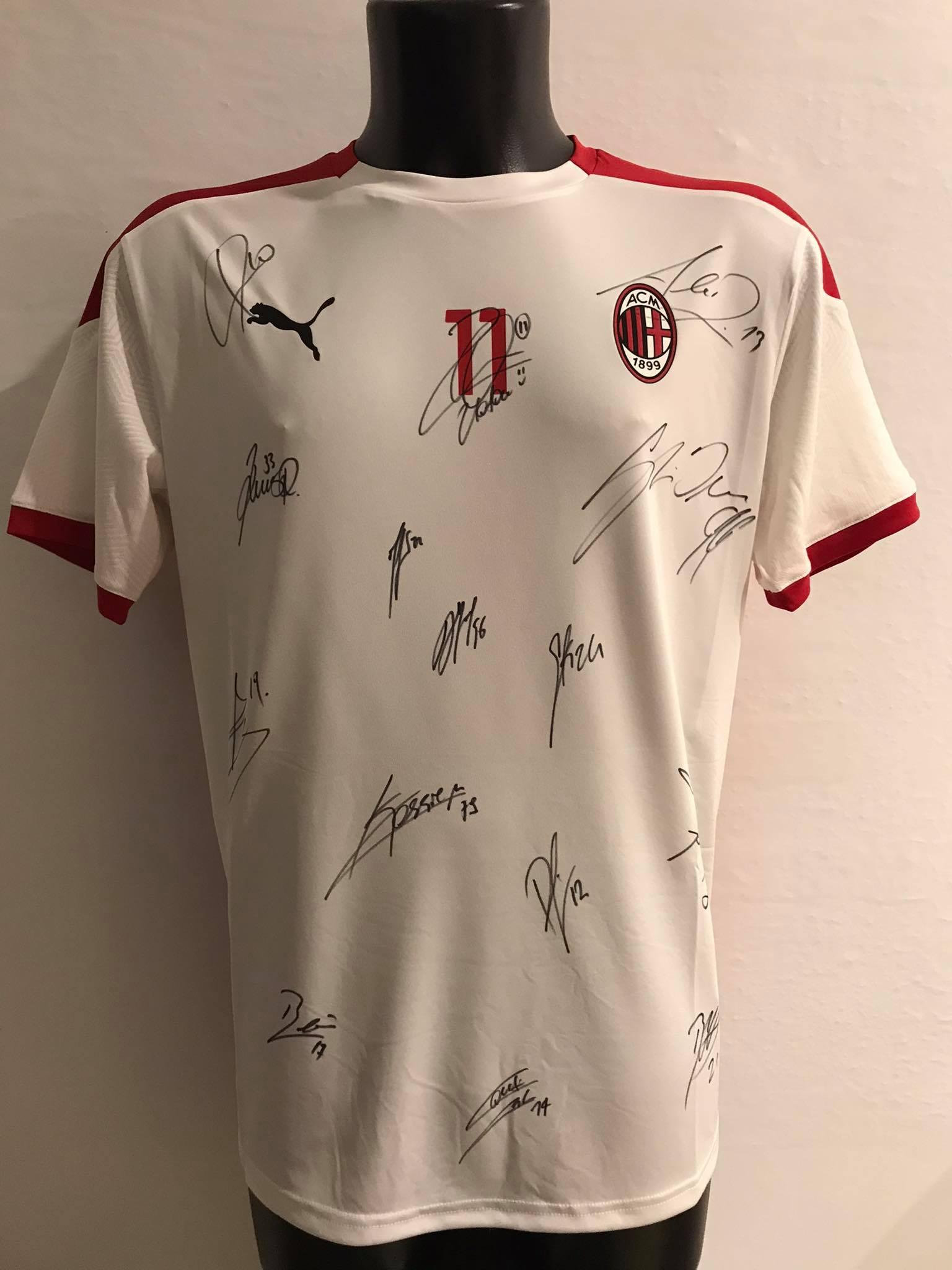 Maglia Gara Home rossonera Europa League Ibrahimovic 11 ...