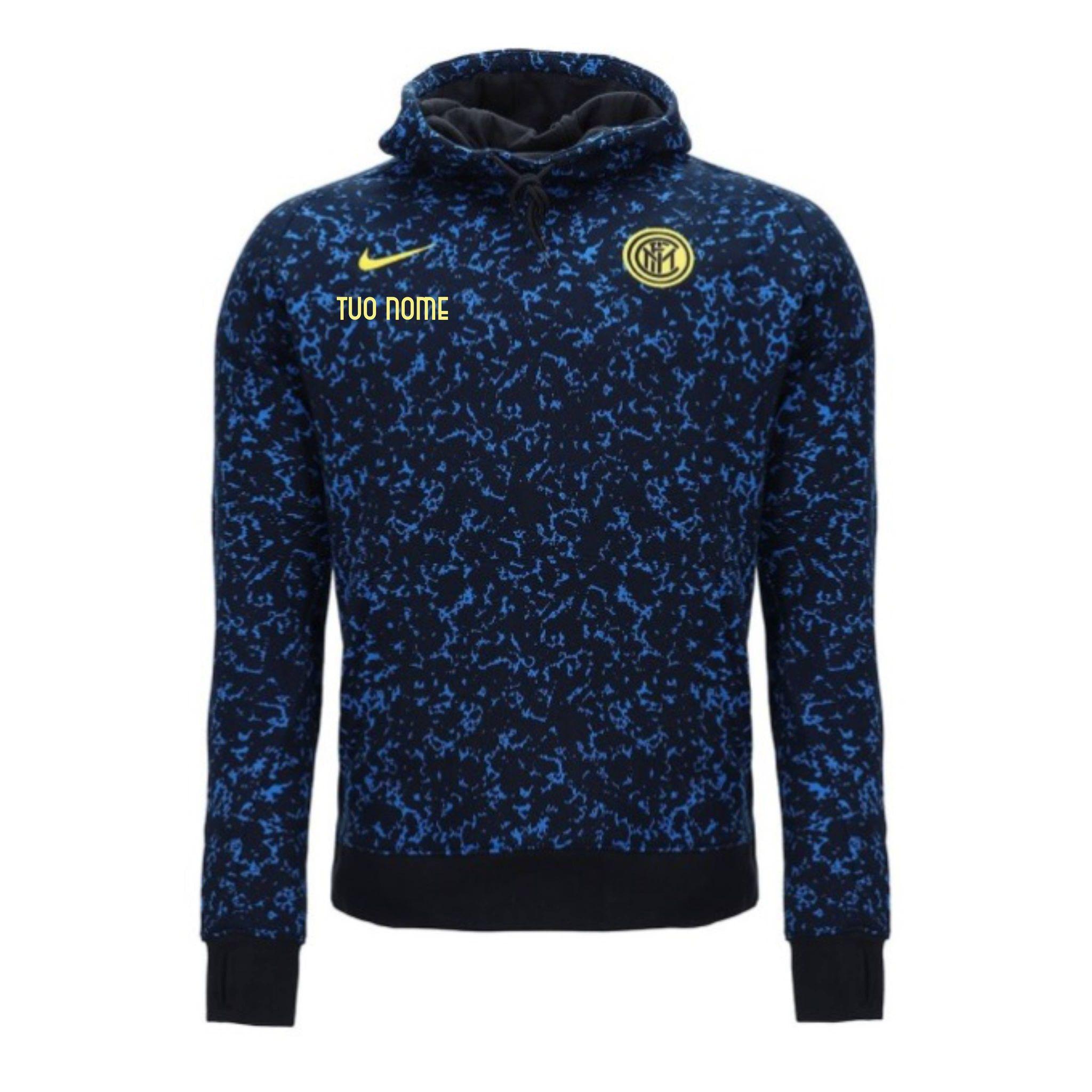 Felpa Rappresentanza Cappuccio Ufficiale Nike F.C. Inter 2020/2021