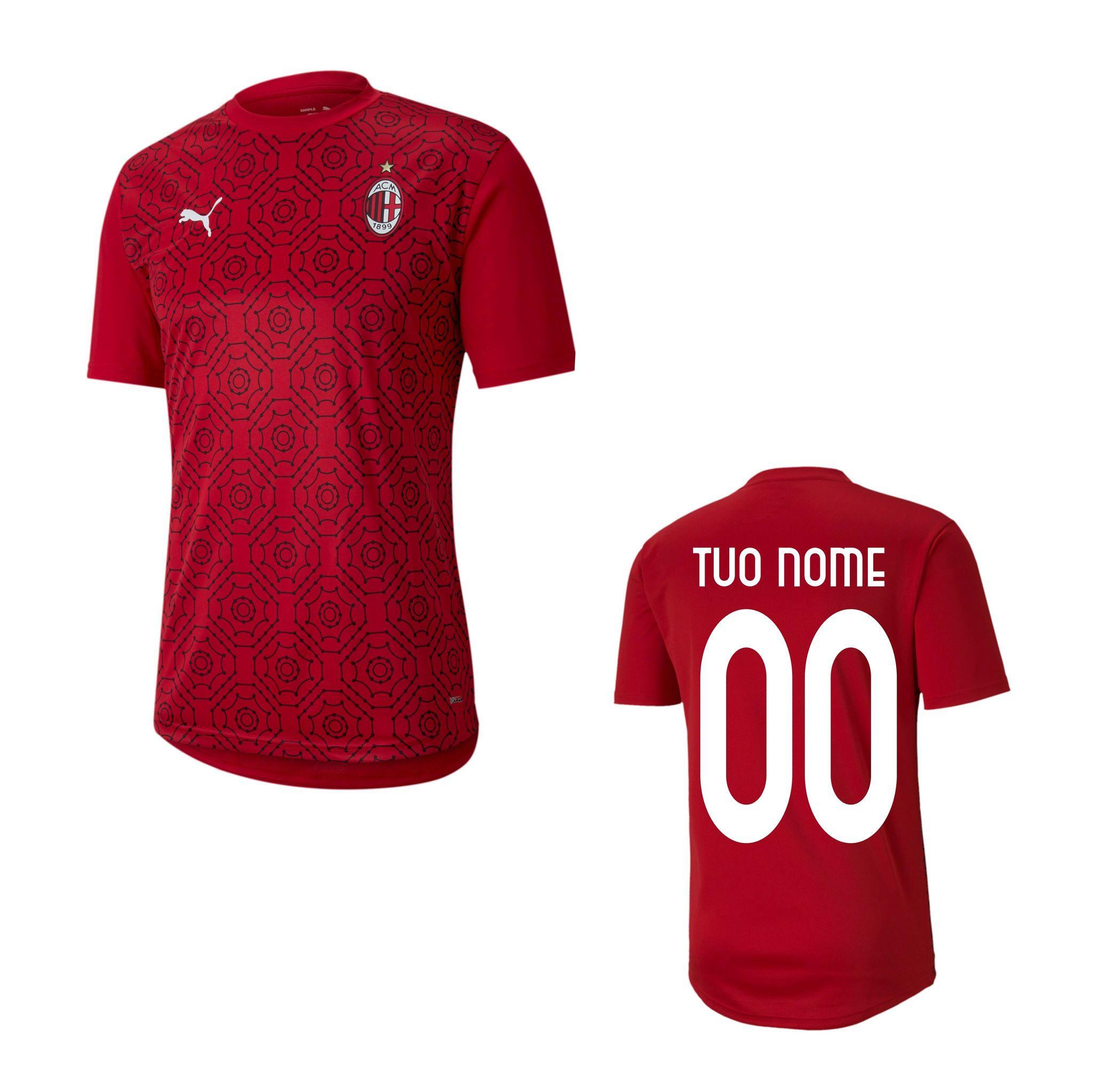 Maglia Allenamento Prematch Rossa Bambino A.C. Milan 2020/2021