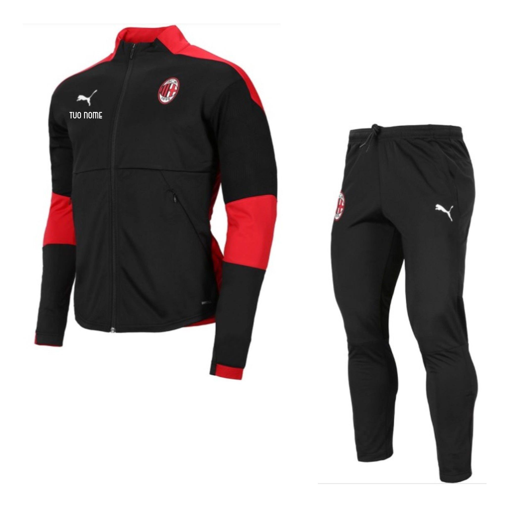 Tuta Rappresentanza Nera Ufficiale Puma A.C. Milan 2020/2021